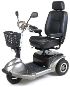 "Prowler HD Mobility Scooter, 3 Wheel with 20"" Captain Seat"