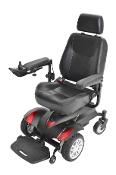"Titan Transportable Front Wheel Power Wheelchair 18"" Seat w/ Cut"