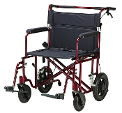 "Bariatric Heavy Duty Transport Chair, 22"" Wide"