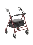 "Bariatric Rollator with 7.5"" Wheels, 500# Cap. - Red"