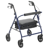 "Bariatric Rollator with 8"" Wheels, 400# Capacity - Blue"