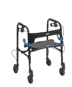 "Clever Lite Walker Rollator, Adult 5"" Caster Wheels - Flame Blue"