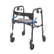 "Clever Lite Walker Rollator Junior, 5"" Caster Wheels- Flame Blue"