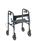 "Clever Lite Walker Rollator, 8"" Caster Wheels - Flame Blue"